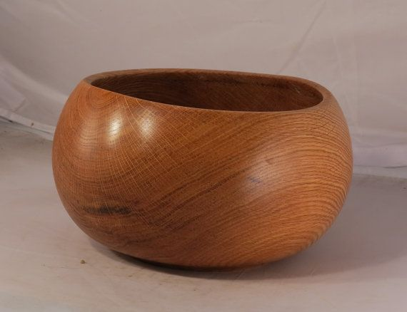 red oak wooden bowl large x by adorewoods