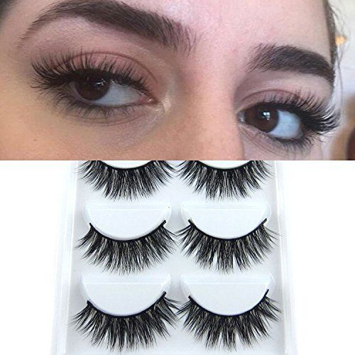 209077a6614 5 Pairs Mink Hair 3D Lashes Dramatic Makeup Strip Eyelashes 100% Siberian  Fur Fake Eyelashes Hand-made False Eyelashes (K01)