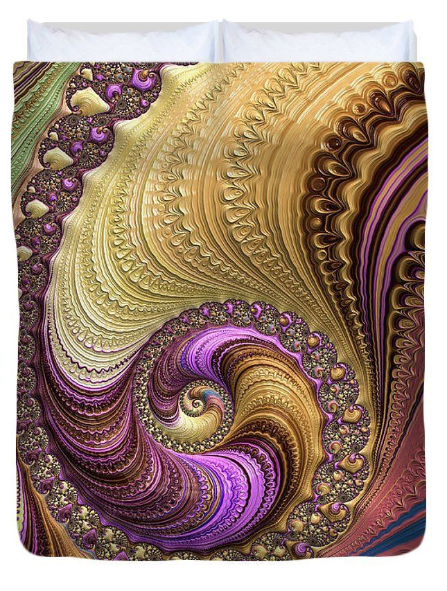 Spiral Duvet Cover: Luxe fractal spiral with wonderful soft colors. Click through and get one. All duvet covers are available in King, Queen, Full and Twin size. Matthias Hauser - Art for your Home Decor and Interior Design needs.