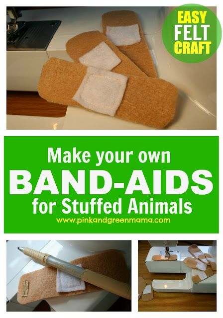 * Feel Better Felt Band-Aids For Play - great for doctor kits and stuffed animal friends!