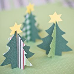 A tutorial for making Paper Christmas trees. Could be used as place cards for your Christmas dinner. (in Swedish and English)