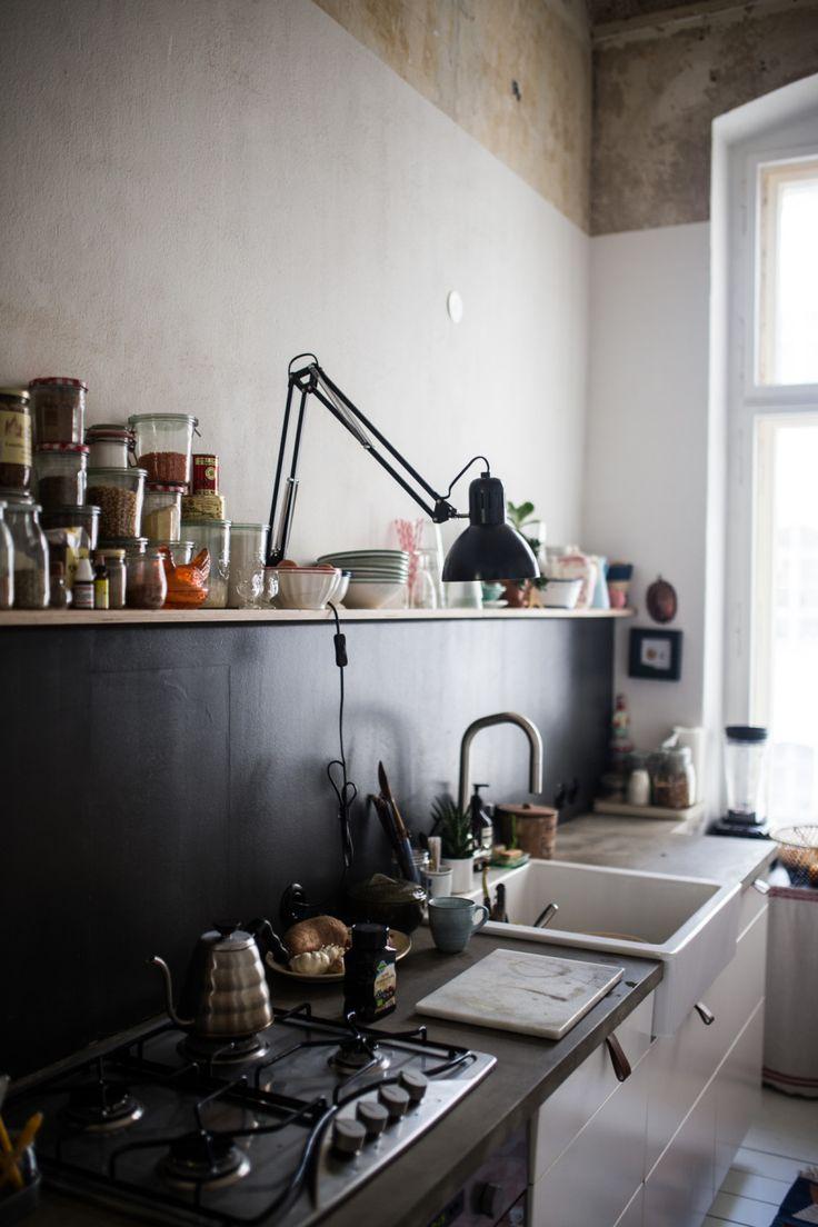 Weiß gelbe küchenideen  best interior images on pinterest  black walls apartments and