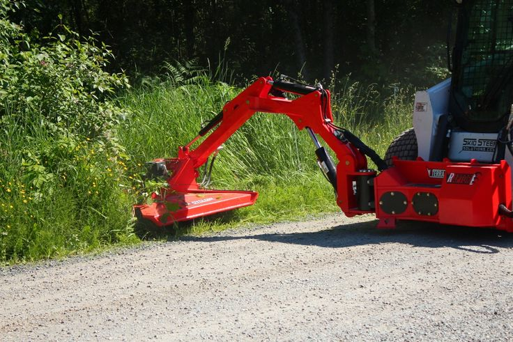 The Raptor Boom Mower Attachment System was designed with roadside work in mind, but the manufacturer says it's the right tool for many landscaping jobs.
