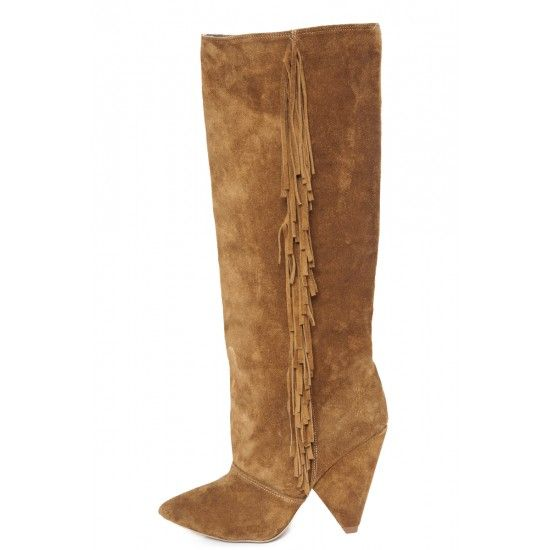 Brown leather boots - romanian designers