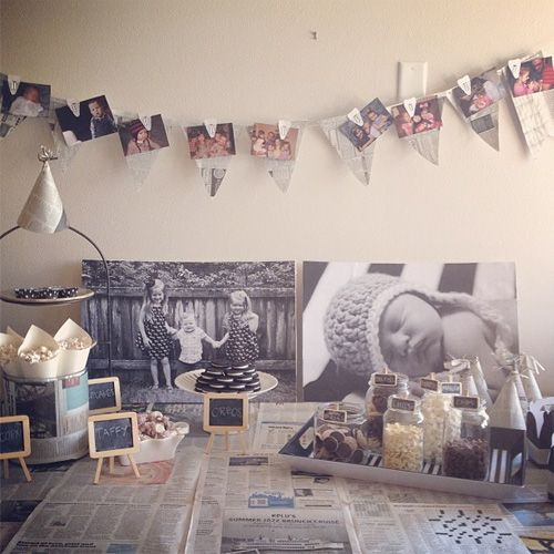 """Newsy"" theme baby shower--just a pick, but some great ideas!"