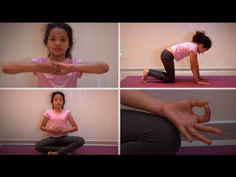 """5 gestes de yoga pour apaiser votre enfant après l'école. Après le goûter et avant de se mettre aux devoirs, il est utile que l'enfant prenne du temps pour lui. Le yoga l'aide ainsi à se recentrer et à se concentrer. Martine Giammarinaro, membre du Rye (Recherche sur le yoga dans l'éducation) et auteure de """"Yogito"""", un manuel ludique pour les parents et enseignants, a eu la gentillesse de nous partager les postures clé avec une de ses élèves."""