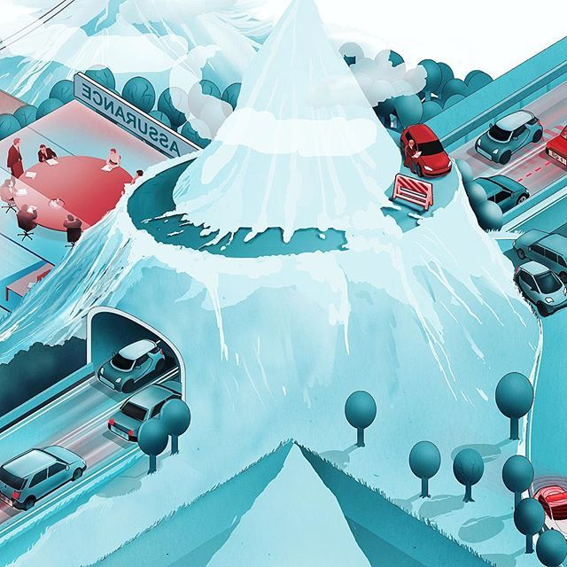 Detail of an informationillustration about the suisse automobile economy. For suisse magazine Migros. ---------------------------------------------------- #illustration #illustrate #illustrationartist #infoillustration #informationgraphic #infographic #editorial #magazine #studiotopie #suisse #switzerland #automobile #mountains #helvetia #cars #economy