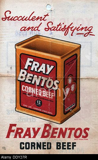 fray bentos corned beef advert  1960