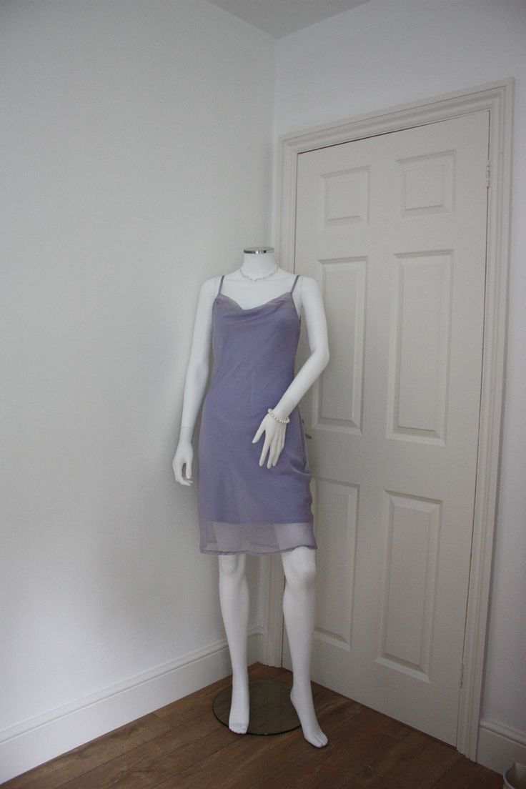 Pastel lilac dress, lilac slip dress, 90's fashion, pastel grunge, 1990s clothes, pale purple dress, summer dress, pastel goth, holiday wear by GoingAroundAgain on Etsy