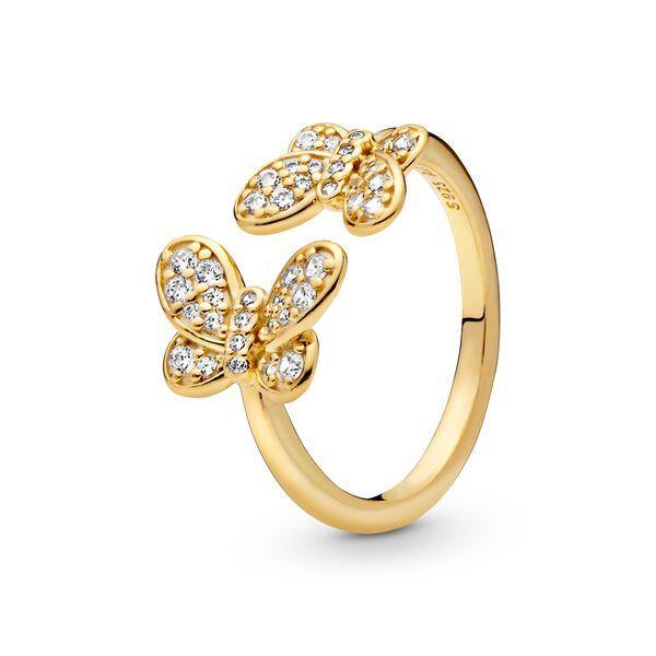 pandora anello farfalla