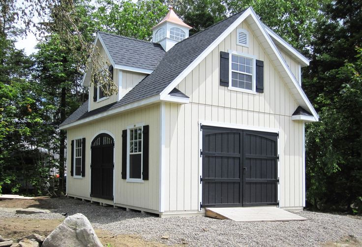 We Love This Classic Color Combination On This Kloter Farms 16x24 Garden Elite Cape Garage Guest House Carriage House Garage Shed