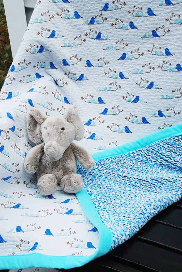 DIY chenille blanket tutorial - flannel fabric