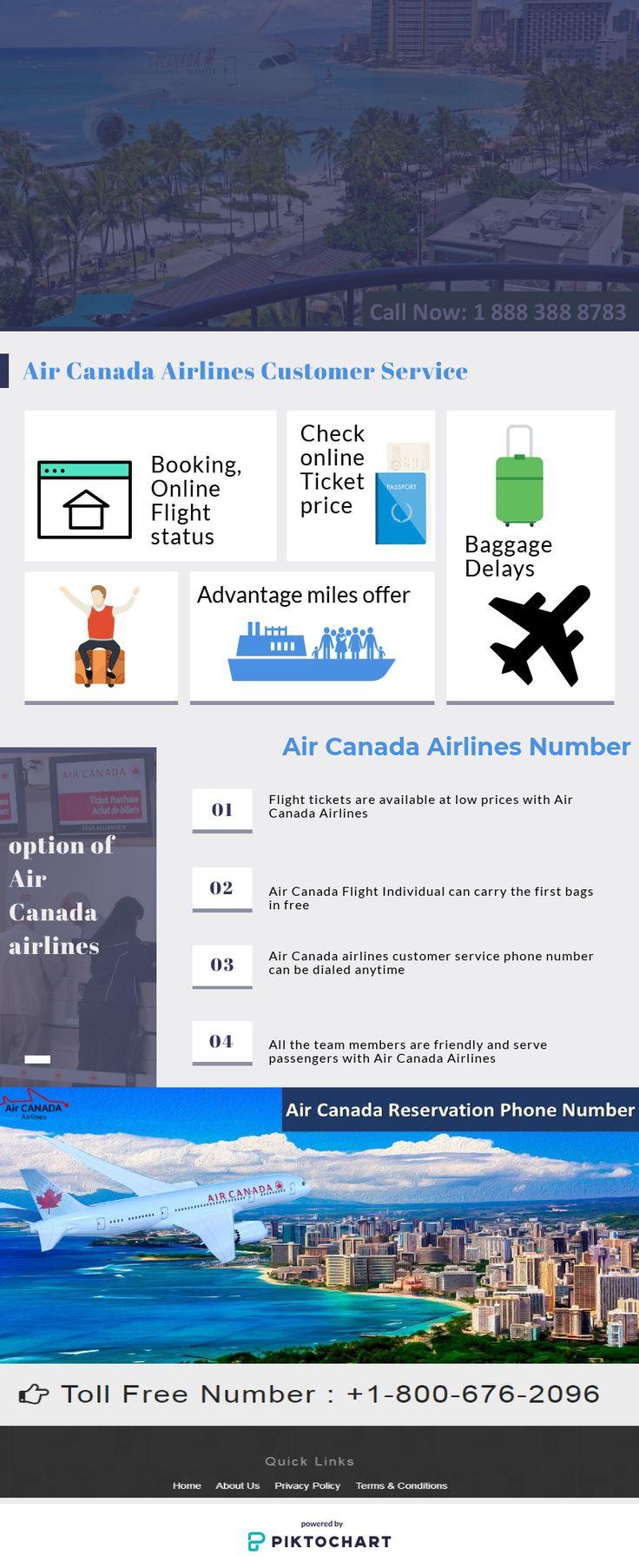 Contact us at Air Canada airlines flight status Phone