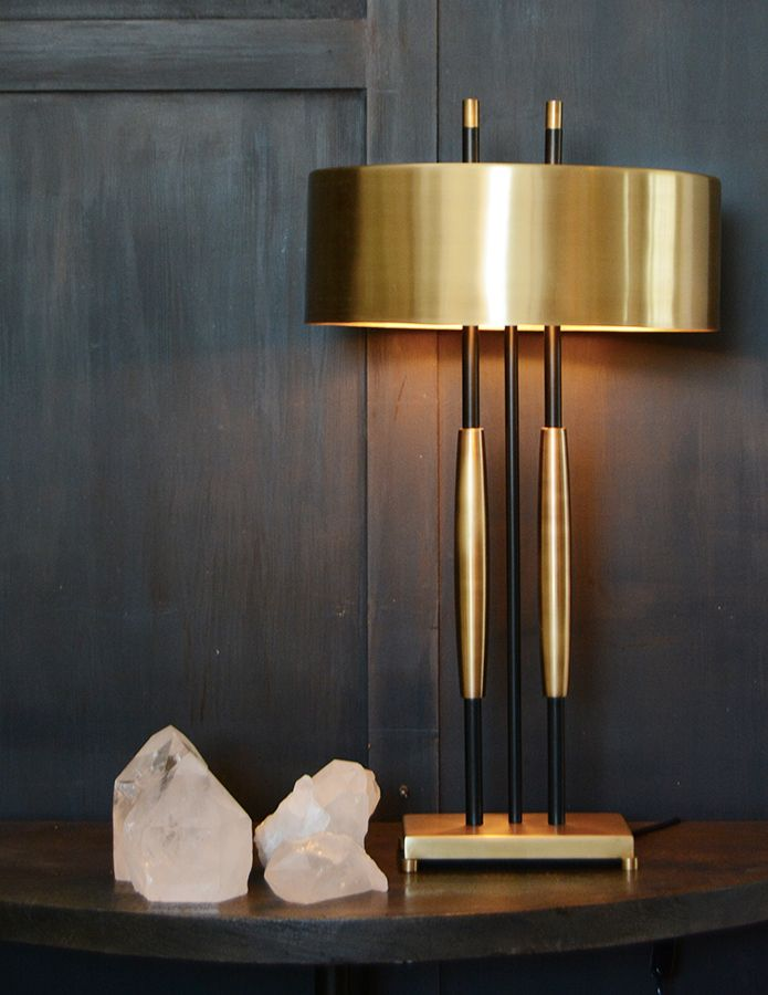Lamp with brass shade - Cécile and Boyd