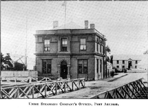 Union Steamship Company's Offices, Port Ahuriri.