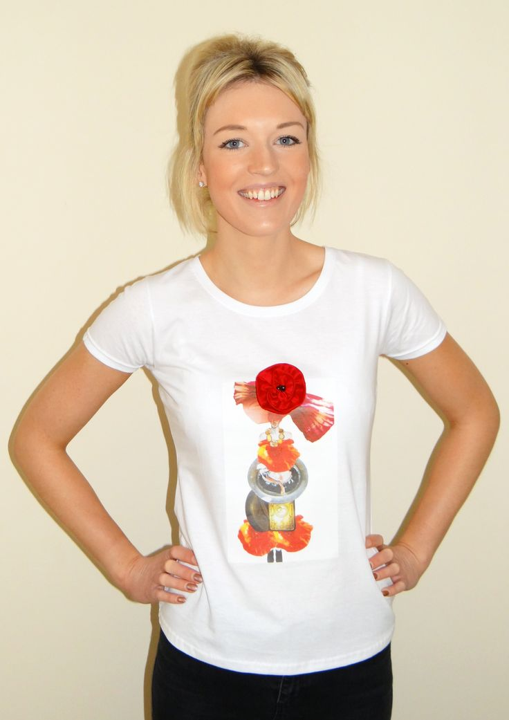 My merchandise: t-shirt with my fashion illustration printed on front