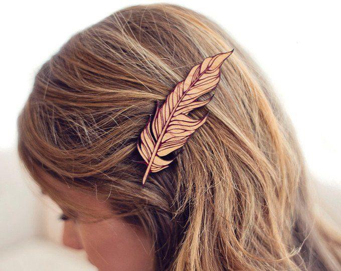 Sparrow Bird / / Holz Haarspange / / Laser geschnitten