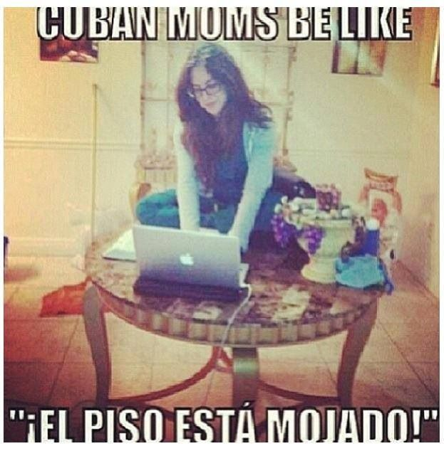 Típico en mi casa !! Cubans be like .