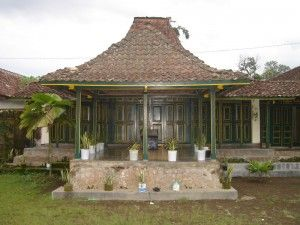 Central Java and East Java Province. Traditional Building : Rumah Joglo