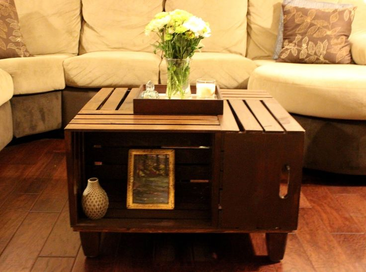 Best 25 wooden crate coffee table ideas on pinterest for Wood crate coffee table