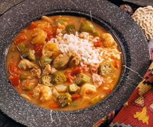 Add a bit of the bayou--okra, seafood, and tongue-tingling spices--to your menu with this Cajun stew.