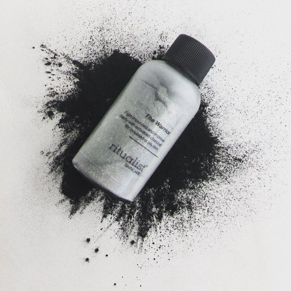 Clarifying CHARCOAL mask with aloe vera | natural, preservative free | The WARRIOR mask for oily skin | Ritualist Skincare
