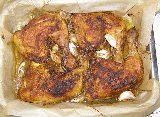 W Mojej Kuchni Lubię.. : pieczone pikantne udka z czosnkiem...