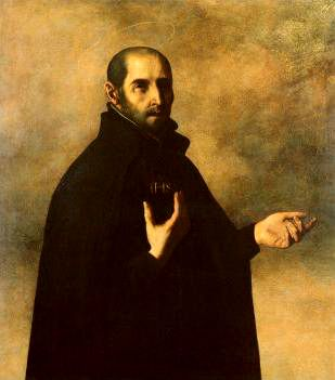 St. Ignatius of Loyola (1491 – 1556)  Date 1600s  Source Art.co.uk  Author Francisco Zurbaran (baptized 1598 - 1664)