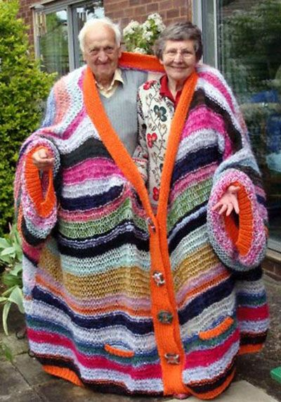 : Laughing, Ugly Sweater, Crochet, Over Sweaters, Funny, Couple, Things, Old People, Knits Needle