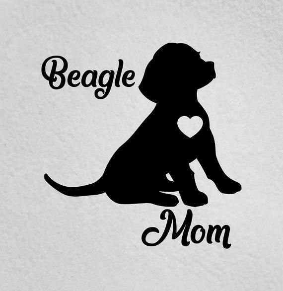 Beagle Mom Sticker Beagle Lover I Love My Beagle Beagle Car Decal