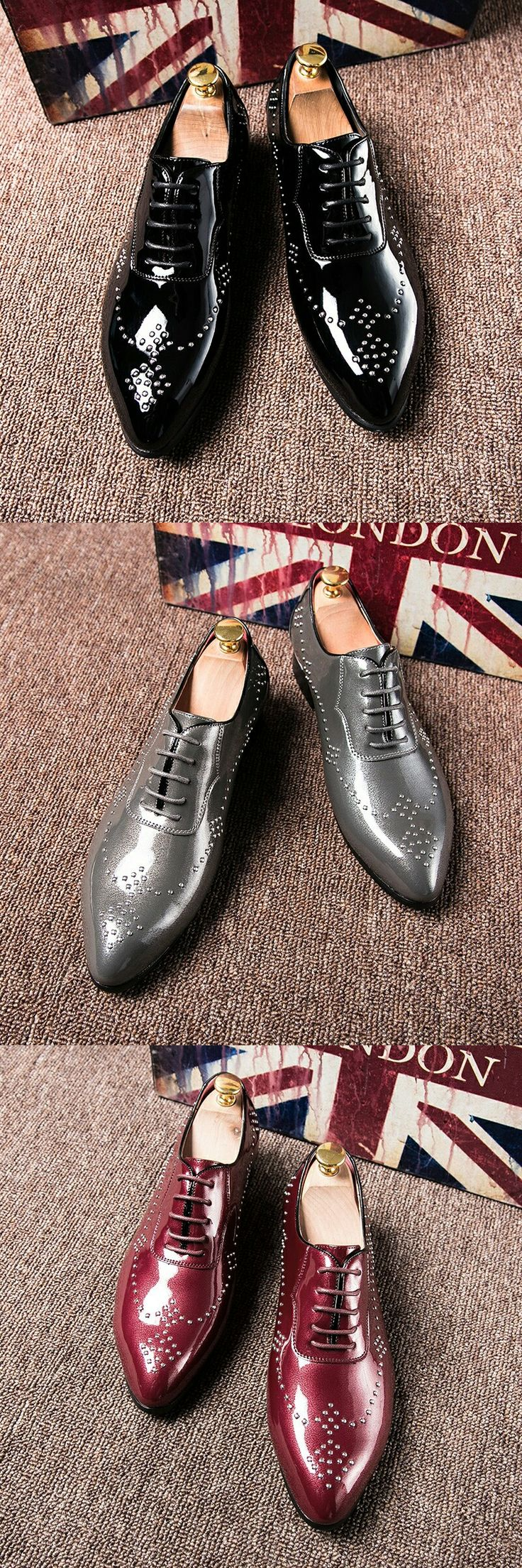 $26.98 <Click to buy> Luxurious Mens Oxfords Vintage Dress Shoes