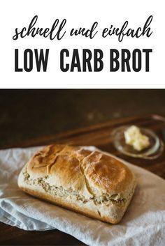 Rezept für ein schnelles und einfaches low carb Brot