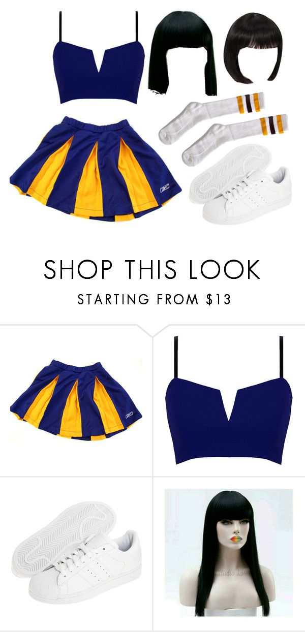 """My Halloween Costume: Cheerleader blue"" by luhemmings on Polyvore featuring moda, Reebok, adidas Originals y American Apparel"