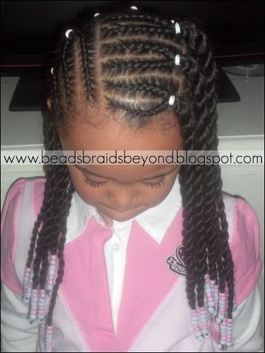 BEADS BRAIDS & BEYOND : BRAIDED BOX BRAIDS / LITTLE GIRLS HAIR / SCALP BRAIDS / CORN ROLLS / NATURAL HAIR / HAIRSTYLE / HAIR DO / PROTECTIVE HAIRSTYLE / TWIST / HAIR BEADS