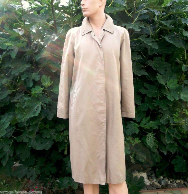 BURBERRY Coat Raincoat ladies XL beige long England Burberrys Prorsum vintage