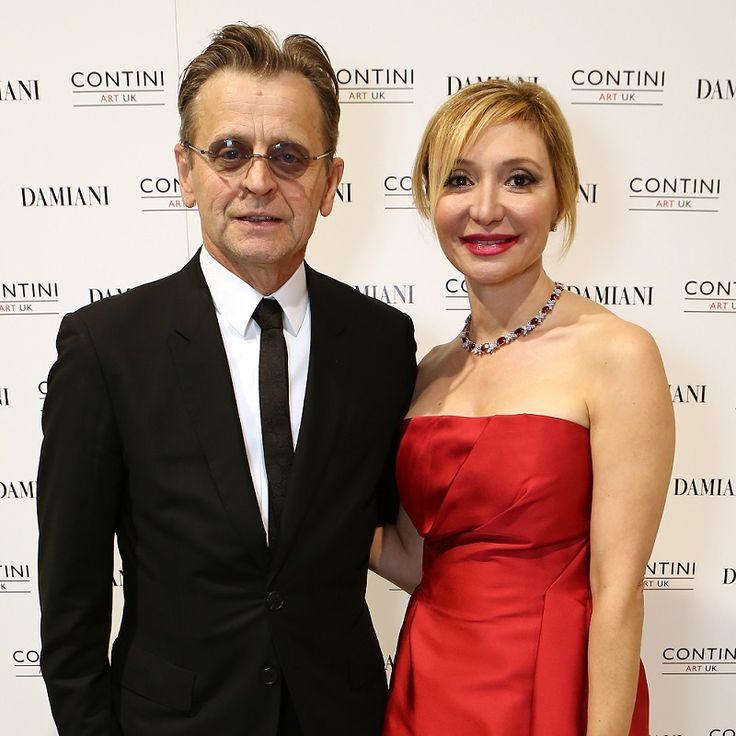Silvia Damiani with Mikhail Baryshnikov at the Contini art gallery in London
