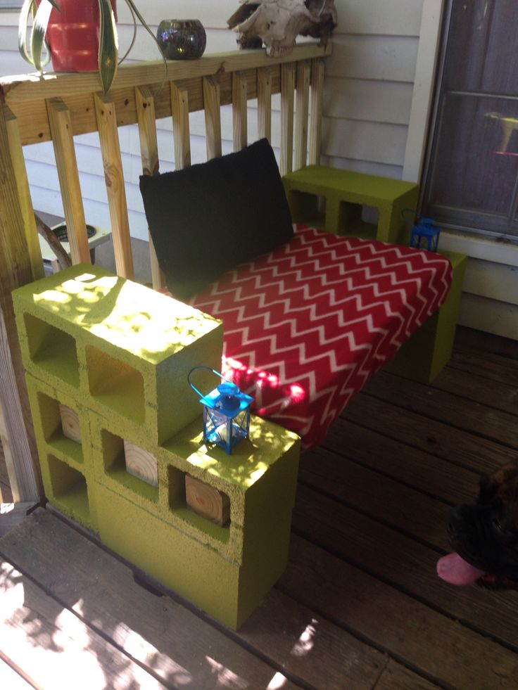Cinder Block Bench. Not To Bad For My First One!