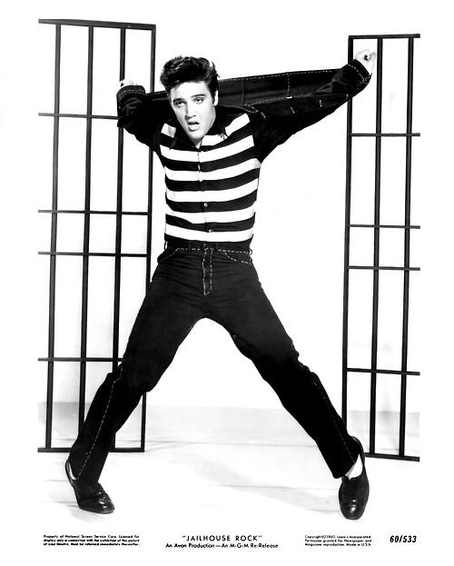 Elvis dancing to Jailhouse Rock. Who doesn't love Elvis....gone to soon!!