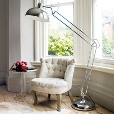 Chrome Atlas Giant Floor Lamp