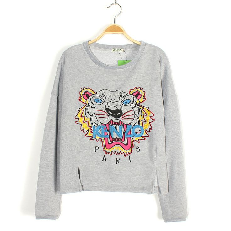 [$16.57]Special design tiger head embroidery short loose casual sweatershirts TL-WY7205