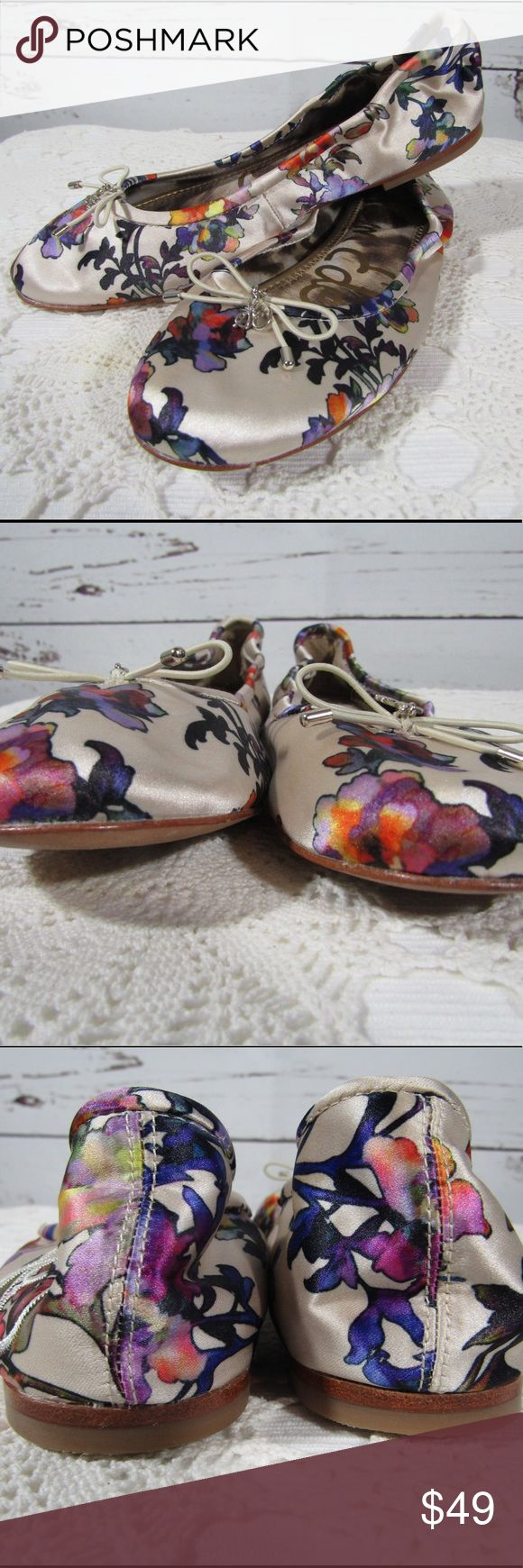 "Sam Edelman ""Felicia"" satin floral ballet flats Sam Edelman 