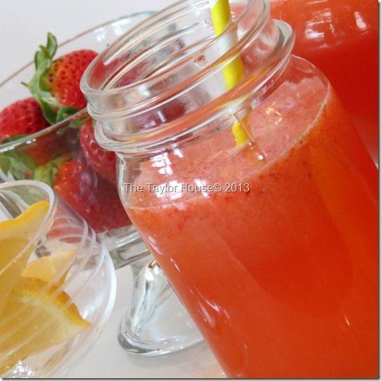 Homemade Strawberry Lemonade Recipe #lemonade #recipe