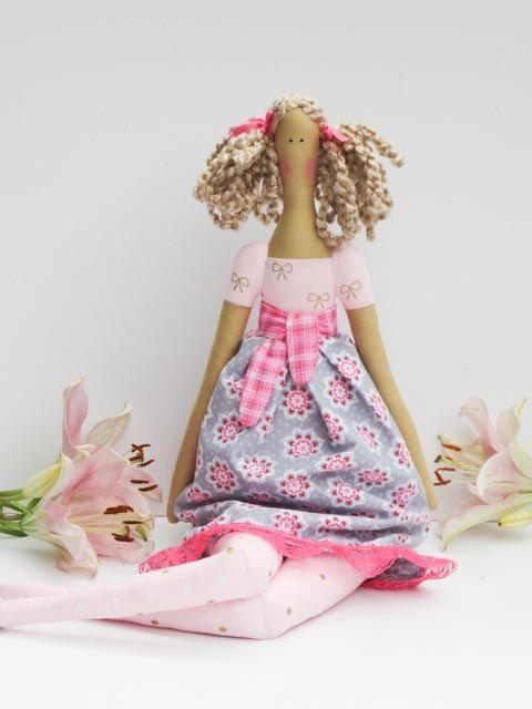 Bambola di pezza fatta a mano bambola tessuto di HappyDollsByLesya
