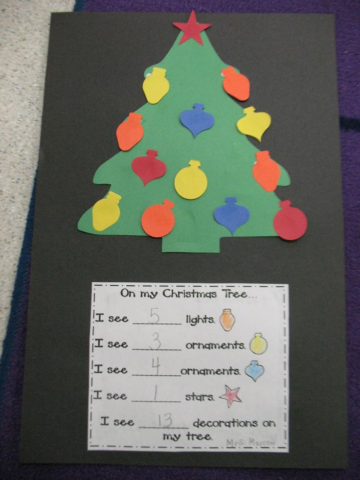 Christmas tree counting numeracy christmas tree and for Christmas crafts for kindergarten students