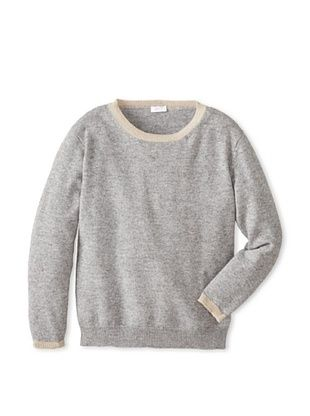 50% OFF Il Gufo Kid's Sweater with Elbow Patches (Grey)