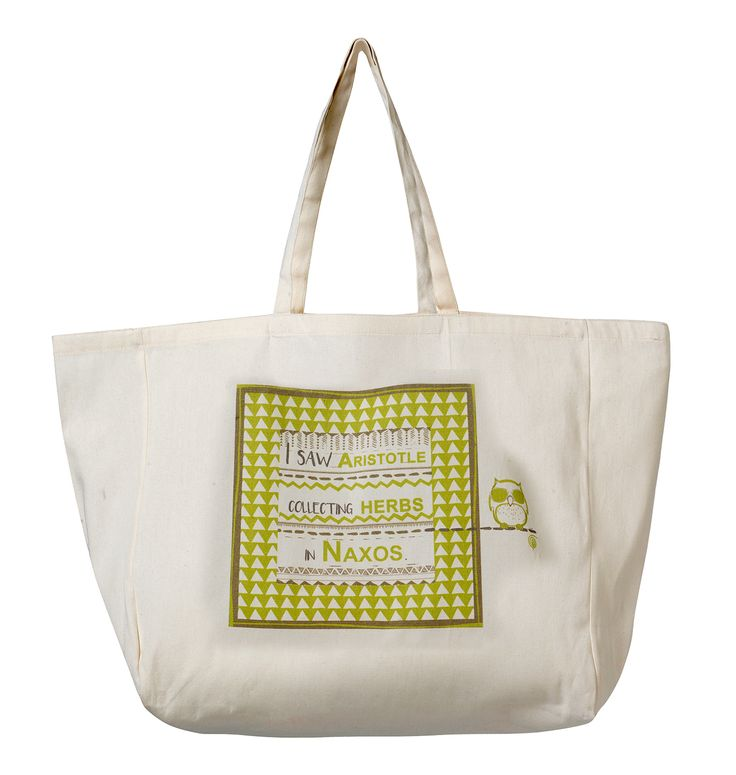 Beach Bag Naxos: I saw Aristotle collecting herbs in Naxos! Material: Canvas.