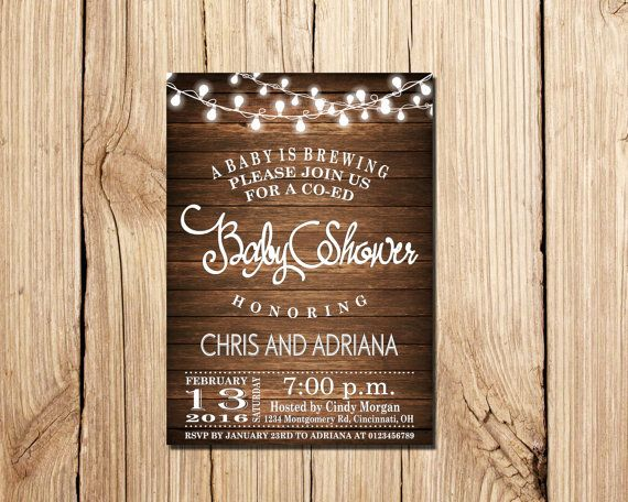 A Baby Is Brewing Baby Shower Invitation, Baby Brewing Invitation, Printable Co-Ed Baby Shower Invitations, Beer, Baby-Q, BBQ Baby Shower