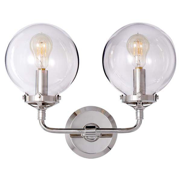 BISTRO DOUBLE LIGHT CURVED SCONCE
