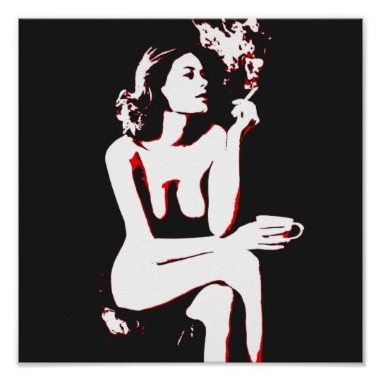 Sexy girl with cigarette abstract erotic nude art poster Paper Type: Value Poster Paper (Matte)  Your walls are a reflection of your personality. So let them speak with your favorite quotes, art, or designs printed on our posters! Choose from up to 5 unique paper types and several sizes to create art that's a perfect representation of you.      45 lb., 7.5 point thick poster paper     Matte finish with a smooth surface     Economical option that delivers sharp, clean images with stunning…