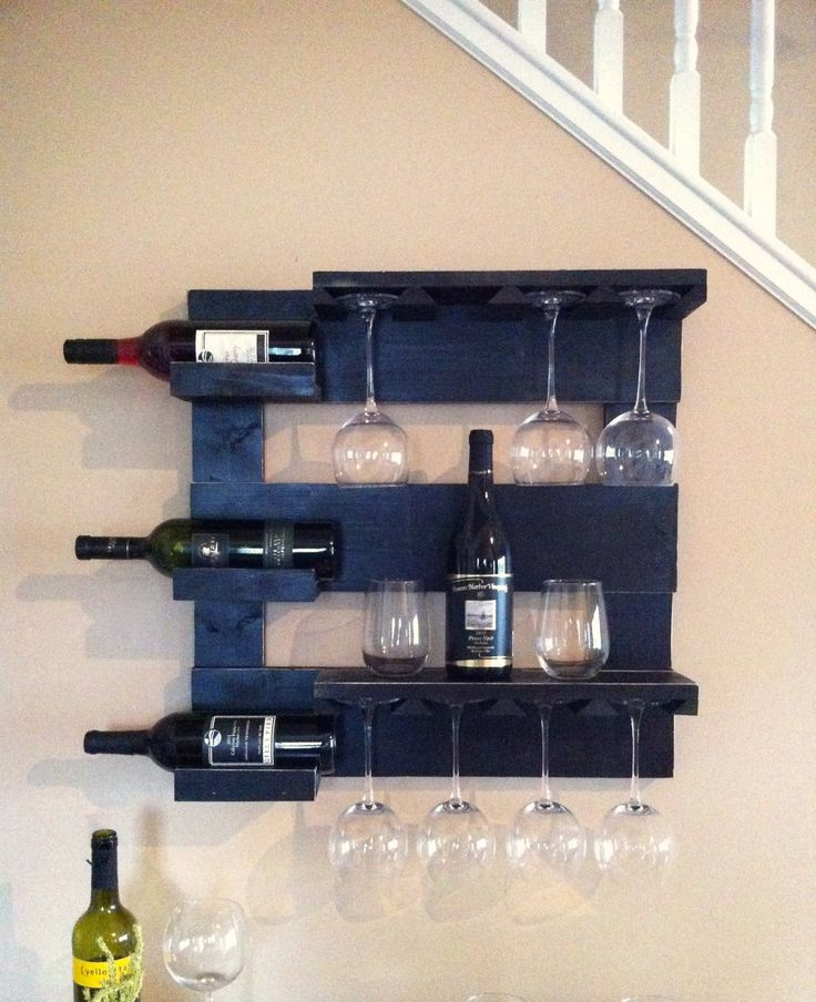 1000+ Ideas About Hanging Wine Rack On Pinterest